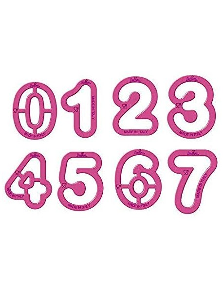 KIT 9 COOKIE CUTTERS NUMBERS D.5,2X2,2 H