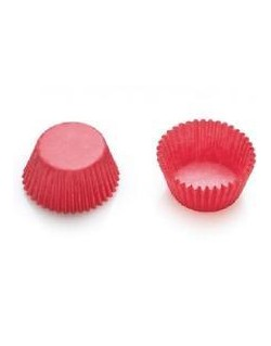 RED BAKING CUPS 27X17 MM