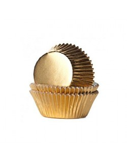 GOLD BAKING CUPS 27X17 MM