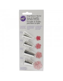 4 PC DROP FLOWERS TIP SET