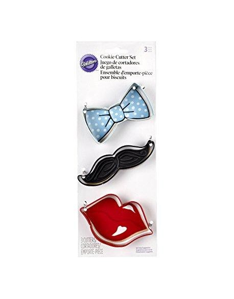 SET 3 CUTTERS TIE/MUSTACHE/LIPS