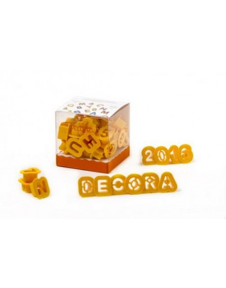 36 COOKIE CUTTERS ALPHABET&NUMBERS