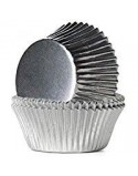 SILVER BAKING CUPS 27X17 MM