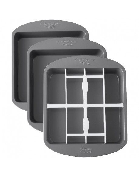 SQUARE CHECKERBOARD CAKE TIN SET
