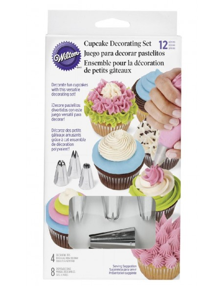 12 PC CUPCAKE DECORATING SET