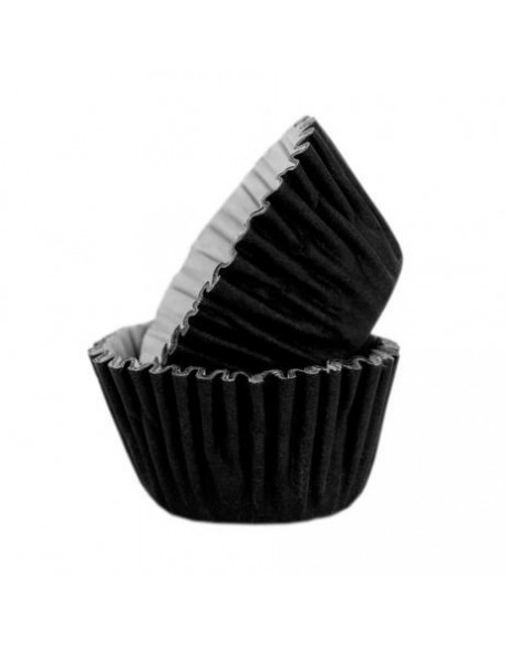 BAKING CUPS BLACK MM.27X17