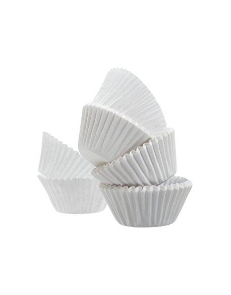 WHITE BAKING CUPS 27 X 17 MM